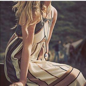Free People Bloom chevron stripe midi dress